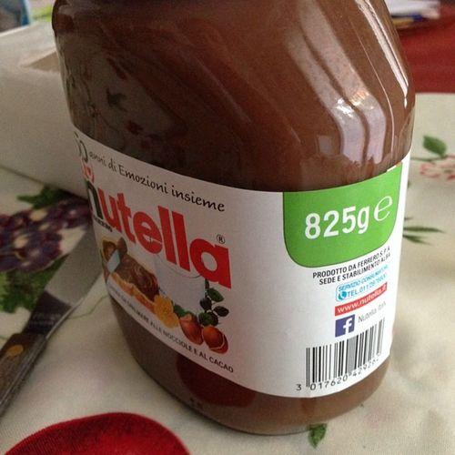 Nutella825 825g di bontà!!!! Nutella Nutellalove Nutellago chocolate love colazione breakfast forzaazzurri