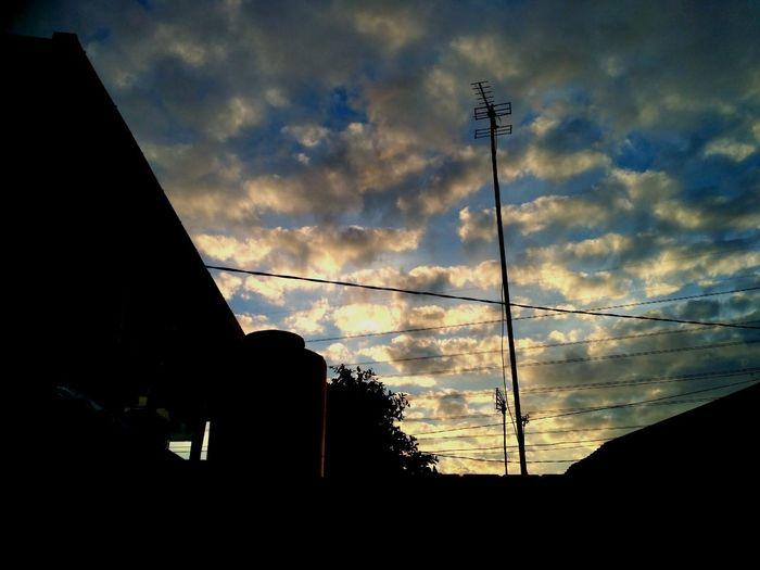 Morning Sky Silhouette Low Angle View Sky Cloud Outdoors Cloud - Sky Morning Light Morning Sky, First Eyeem Photo First Eyeem Photo
