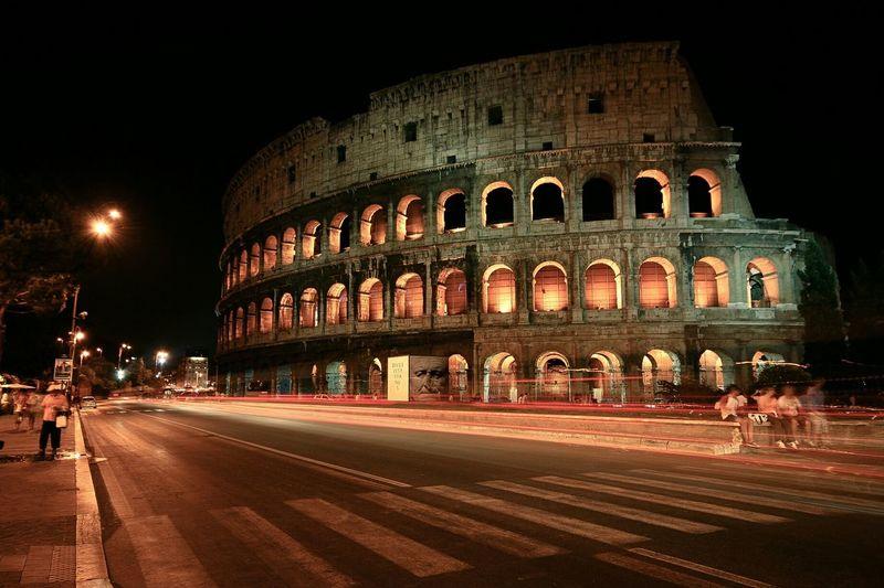 Nightphotography Nightcolosseo Italy Memory Colosseo