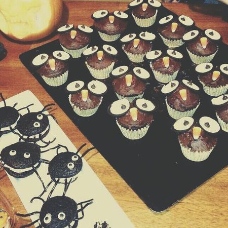 TBT  to Halloween Treats Food Chocolate Cupcakes Cookies Halloween Food Porn