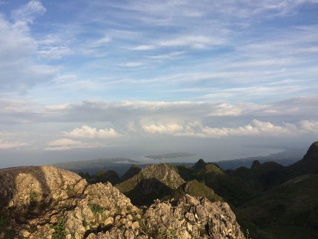 Sunrise at Osmena Peak Dalaguete Cebu , Philippines. Beauty In Nature Nature Scenics Mountain Sky Tranquil Scene Tranquility Landscape Rock - Object Outdoors Been There.