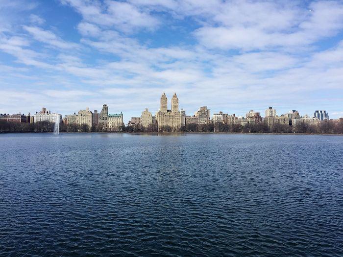Central Park New York Reservoir City Lake
