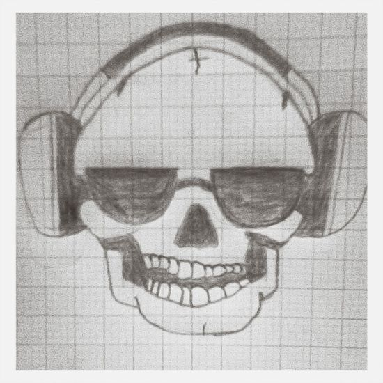 My Drawing Art My Freetime ! Skull