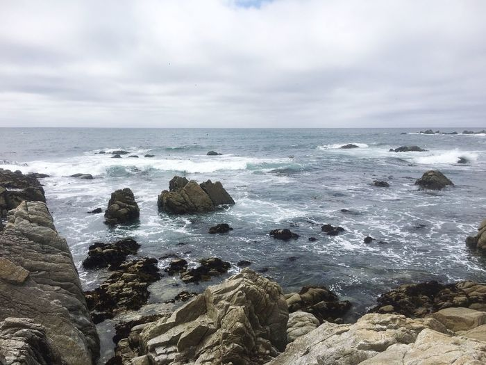 Part of the 17 mile drive Sea Horizon Over Water Sky Nature Water Rock - Object Beauty In Nature Scenics Cloud - Sky Tranquility Tranquil Scene Day Wave 17-Mile Drive EyeEmNewHere EyeEmNewHere
