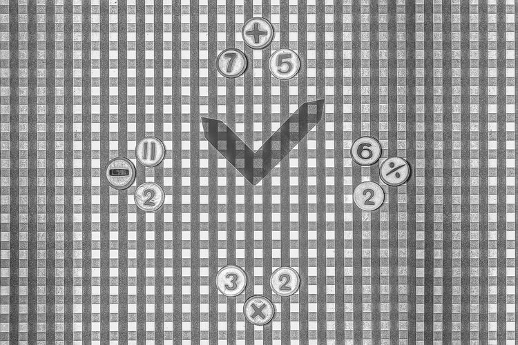 No People Textured  Reloj Clock Black And White Blanco Y Negro