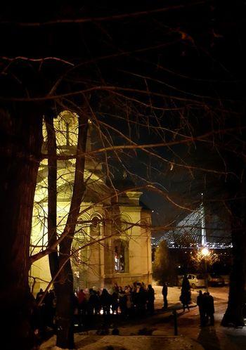 Badnja Veče Božic Belgrade, Serbia Христово рождество Badnjak Ortodox Christmas