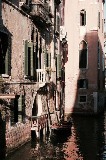 #Venice in Color. Green. Architecture Building Canal City City Life Color Day EyeEm Best Shots EyeEm Gallery Italy No People Showcase April Town Venice Water Waterfront Waterstreet