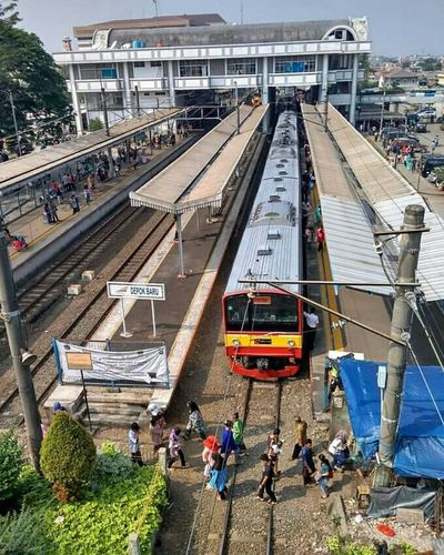 Commuter Line Depok Train People
