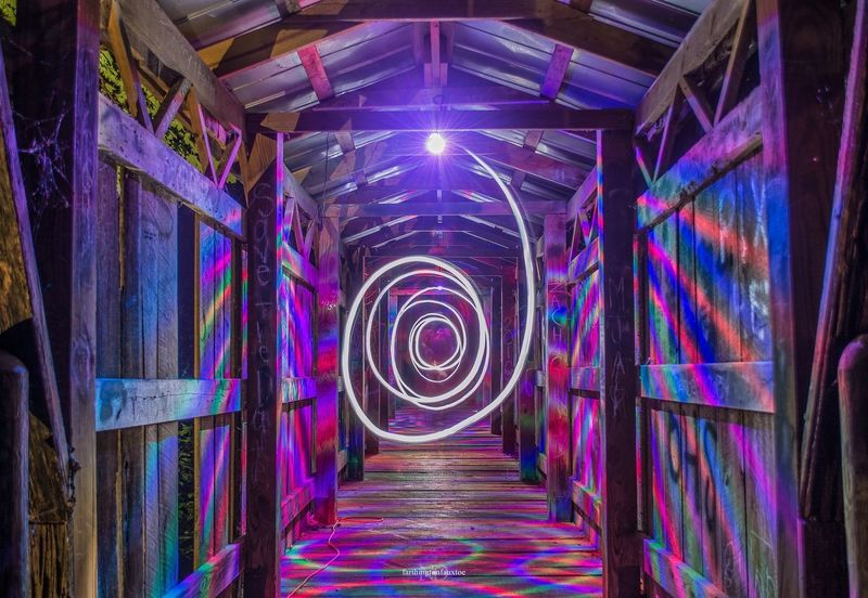 Hypno Bridge. Multi Colored The Way Forward Kentucky  Summer Long Exposure Art Is Everywhere Eye4photography  Trippy Light Lighting Festival Festival Season Festivals Music Festival Longexposure Long Exposure Shot Long Exposure Night Photography
