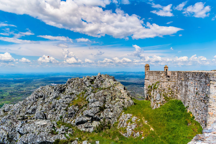 Castelo de Marvão Sky And Clouds Sky Collection Castle Ruin Castle View  Cloud - Sky Clouds Mountain Mountains Sky Sky_collection