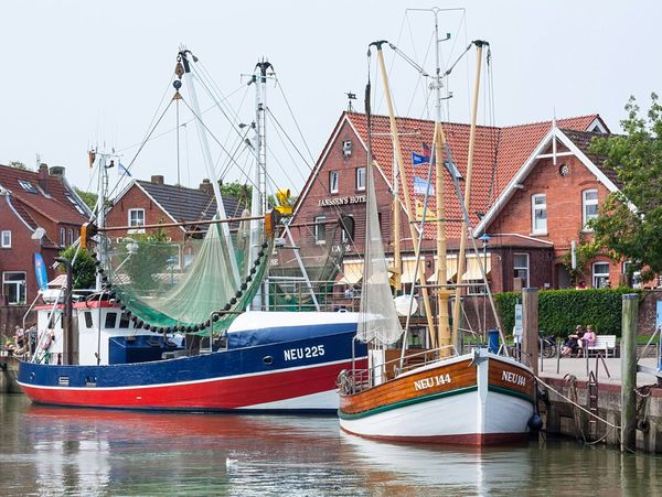 I love small harbours like these 😊 Neuharlingersiel , Germany in this case. Worth a visit ⚓️ . Coast Harbour Northsea Boats Fishing Seaside Summer Views