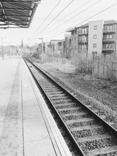 Train Tracks Black & White Blackandwhitephotography railway track VSCO Cam VSCO Waiting For A Train