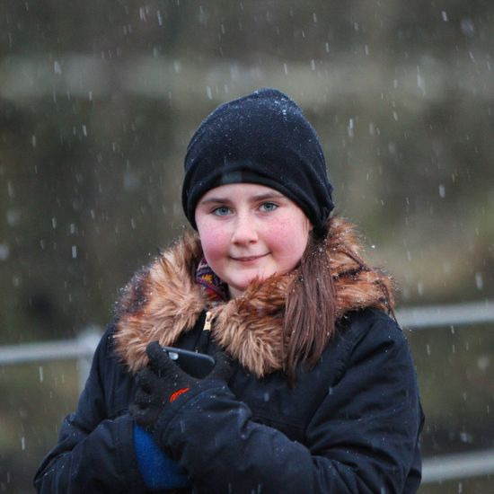 My Daughter in the Snow in Oldham