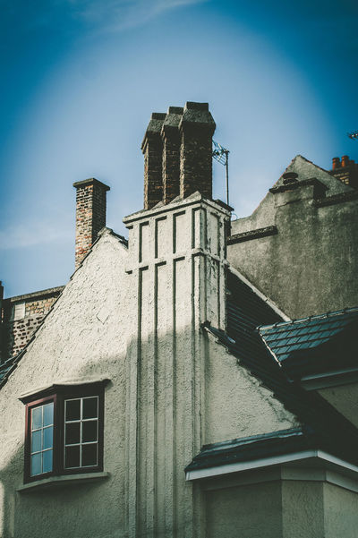 Bray-Dunes Chimney Chimney Tops France Architecture Belief Blue Building Building Exterior Built Structure Clear Sky Day History Low Angle View Nature No People Old Outdoors Place Of Worship Religion Sky Spirituality The Past Window