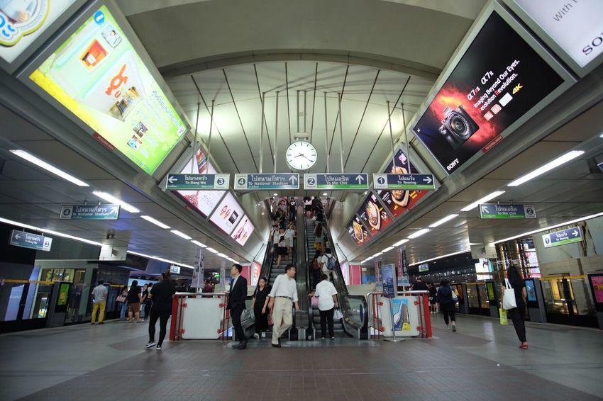 Skytrain BTS Skytrainbangkok BTS Bangkok Bts Siam Bts Crowd People