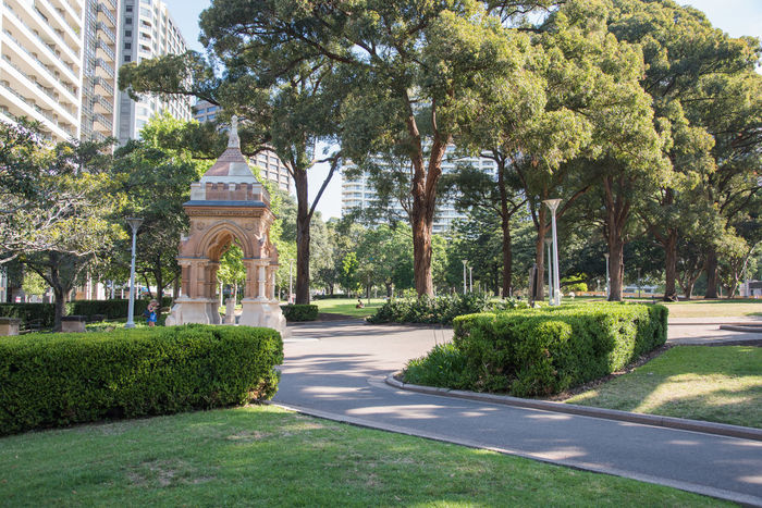 Sydney,NSW,Australia-November 18,2016: Hyde Park with people, trees and brick pergola in Sydney, Australia. Arbor Architecture Australia City Life Footpath Garden Garden Architecture Gazebo Hyde Park Landscape Leisure Activity Lifestyles Ornate Park Park - Man Made Space People Pergola Real People Sydney Tourism Tourist Tourist Attraction  Travel Destinations Tree Walking