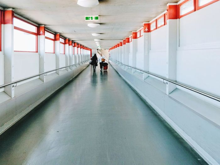 Terminal The Way Forward Corridor Indoors  Architecture Full Length People Discover Berlin Airport Catching A Flight Vanishing Point Running In A Hurry  Tegel Airport Terminal