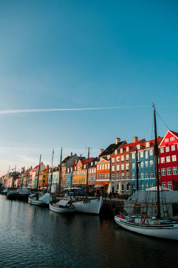 dream city Copenhagen Copenhagen, Denmark Nyhavn Scandinavia Scandinavian Style Sunlight Architecture Architecture_collection Commercial Dock Nautical Vessel City Harbor Water Blue Cityscape No People Sea Outdoors Sky Day Sailing Ship Shipyard Colour Your Horizn Adventures In The City