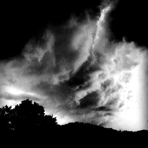 Taking Photos Storms A Brewin! Blackandwhite Sky And Clouds