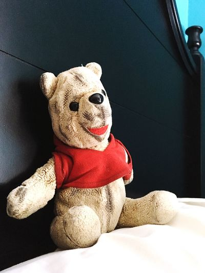 EyeEm Selects Stuffed Toy Teddy Bear Toy No People Indoors  Childhood Sitting Close-up Day Worn Old Well Loved Tattered