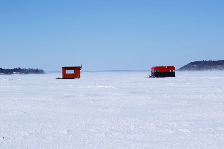 Ice Snow Red Winter Clear Sky Nature Day Outdoors Cold Temperature No People Shades Of Winter