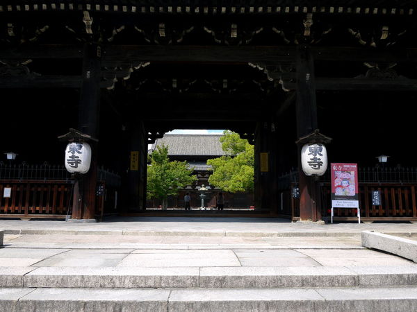 Architecture Built Structure Entrance Framed View Japanese Gates Japanese Temple Lanterns No People The Way Forward Toji Temple Tourism Traditional Architecture Wood - Material