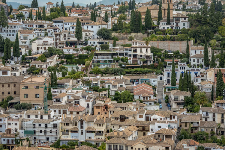 interior of Alhambra, Granada, Spain Alhambra Alhambra De Granada  Interior Spain Architecture SPAIN Arabic Style Architecture Building Exterior Residential District Building Built Structure City Crowded Crowd Day Community Tree Town House High Angle View Outdoors Cityscape Nature Roof Plant TOWNSCAPE Apartment Housing Development