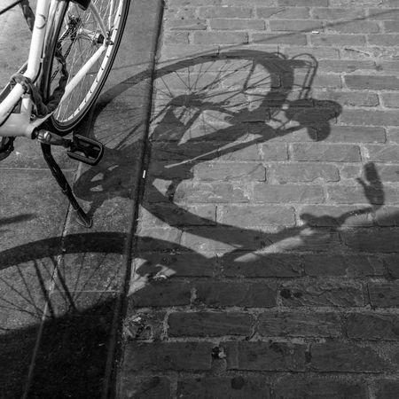 Square 030 Bicycle Bicycle Rack Black And White Photography City Composition Cycling Day High Angle View Land Vehicle Low Section Mode Of Transport Monochrome Photography Outdoors Pedal Riding Shadow Spoke Street Tire Transportation Urban Geometry Wheel The Street Photographer - 2017 EyeEm Awards