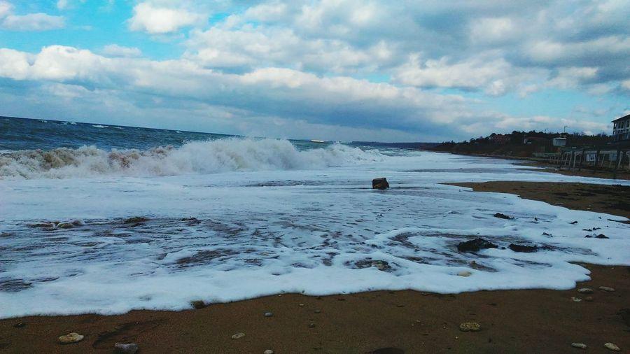 Sea Storm Sky Beauty In Nature Cloud - Sky Landscape Good Morning Good Evening Sevastopol  Good Times