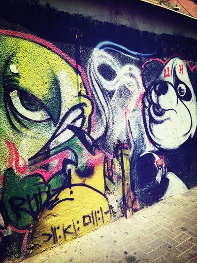 Israel Tel Aviv Graffiti Street