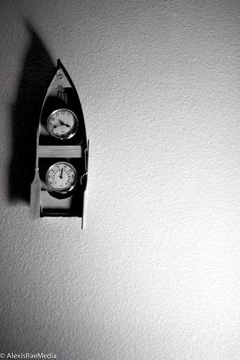 Boat Clock Still Life Monochrome