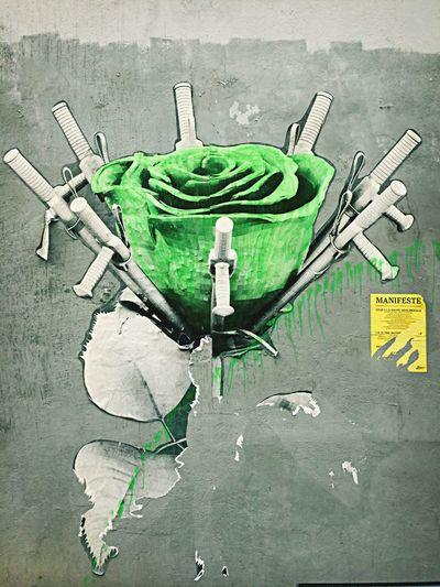 Street art // Flower speach.. Street Art Flowerless Mldart