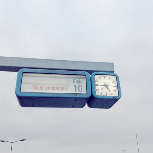 A clock at a platform somewhere in Germany. 10 Accuracy Clock Cloud - Sky Instrument Of Time Minute Hand Platform Puplic Transport Sign Sky Time Western Script