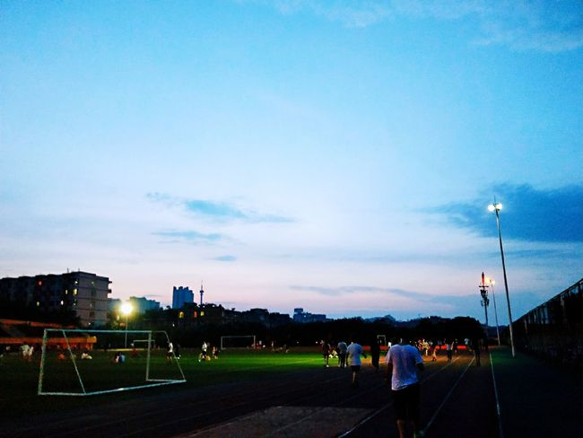 Soccer Field Oil Pump Soccer Competition Sport Sky