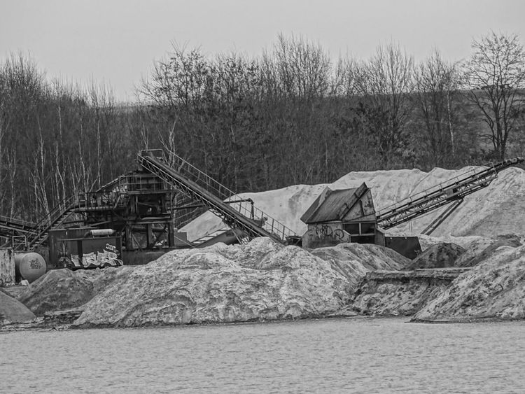 Black & White Factory Mashines No People Outdoors Sand Dune Sand