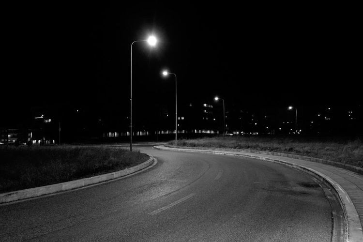 Night Street Light Illuminated No People Road Asphalt Nightphotography Italy❤️ EyeEm Best Shots The Week Of Eyeem The Week On EyeEem Blackandwhite EyeEm Gallery Italy Conceptual Onedirection Urban Landscape Moody Minimalism Street EyeEmBestPics EyeEm Best Shots - Black + White Welcome To Black Welcome To Black