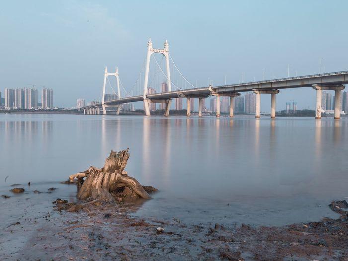 长沙三汊矶! Water Built Structure Architecture Sky Bridge - Man Made Structure Connection Bridge