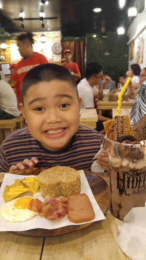 Satisfied. Mood Satisfied  Crave Cravings Food Food And Drink Smiling Eating Child One Boy Only Ready-to-eat First Eyeem Photo