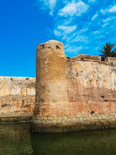 Mazagan Moroccan Morocco Wall Architecture Blue Building Exterior Built Structure Cloud - Sky Day Eljadida, Morocco Fort History Low Angle View Nature No People Old Old Ruin Outdoors Sky Sunlight The Past Wall Water Waterfront