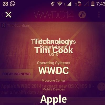 Eagerly waiting for this.....! WWDC14 Much Excited about it.....! AppleConference Newproducts NewOS