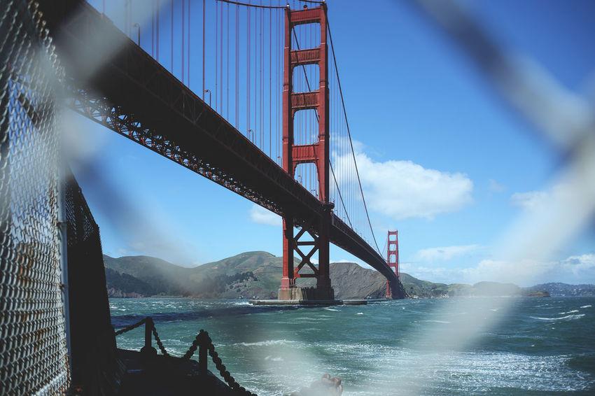 San Fran - Golden Gate Bridge San Francisco Architecture Bridge - Man Made Structure Built Structure Connection No People Outdoors San Francisco Bay Sky Suspension Bridge Tourism Transportation Travel Travel Destinations Water