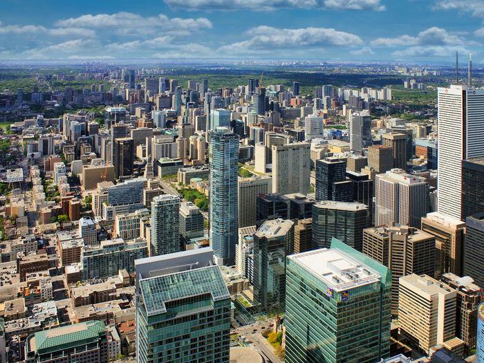 Cityscape view of downtown toronto, ontario, canada