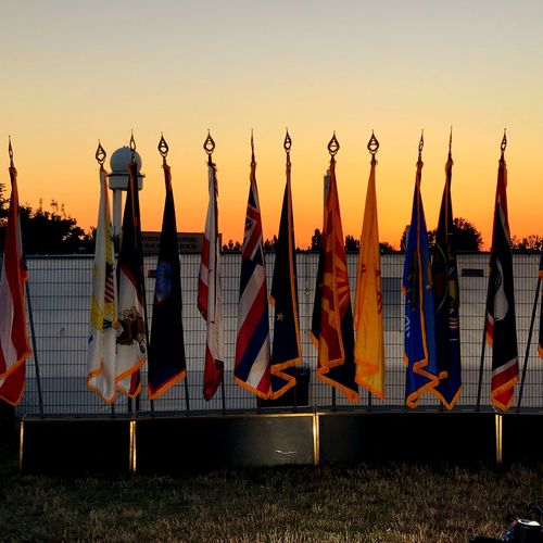 4 of July 4 Of July  USA Flags EyeEm Selects Sky Sunset Nature No People Hanging Flag Day Patriotism