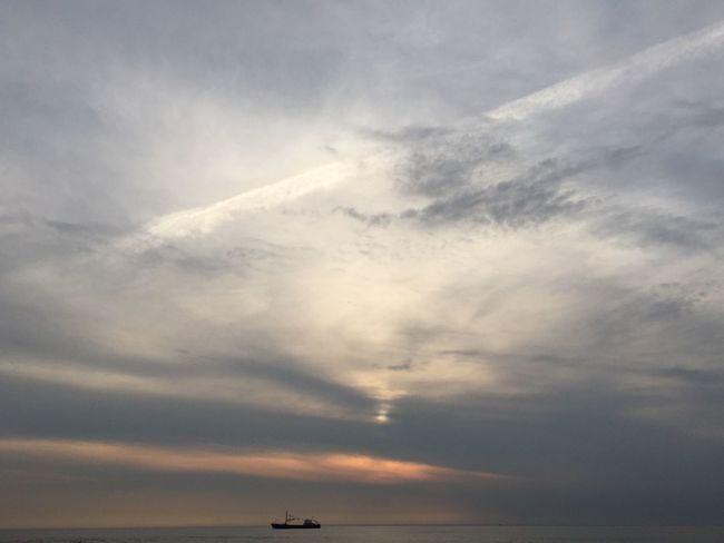 Cloud - Sky Sunset Water Sea