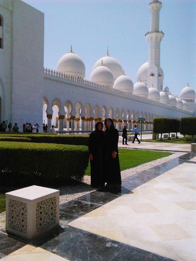 Dubaimosque Travel Destinations Cultures People Women Hijab Bluemosgue Architecture