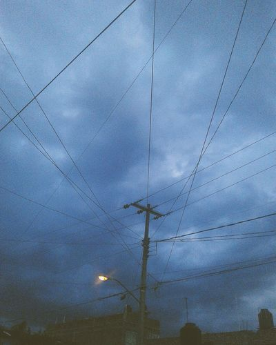 Human Web sky Cloudy day nature cables and wires