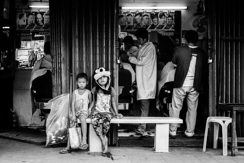Streetphotography Street Life People Eyeem Philippines Children The Human Condition B&w Street Photography Blackandwhite Street Photography People And Places Streetphoto_bw EyeEm Lucena Philippines Street Everybodystreet Real People B&w The Street Photographer - 2017 EyeEm Awards Black And White Friday