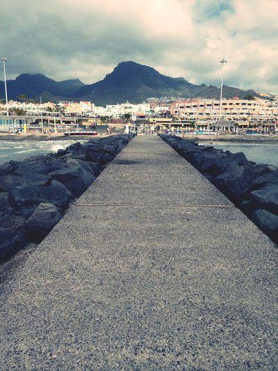 dark Sky at Costa Adeje Costa Adeje Canary Islands Teneriffa, Kanarische Inseln Sea And Sky Costa Fanabe Water Mountain Sea Beach Sand Sky Cloud - Sky Beach Umbrella