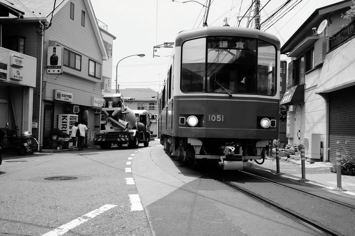 City Street Street Transportation 鎌倉 江ノ電 路面電車