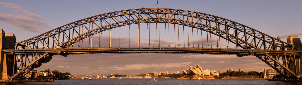 Bridge Bridge - Man Made Structure City Cityscape Cloud - Sky Day Ferris Wheel Flag Harbor No People Outdoors Road Stretching Sydnet Harbour Bridge Sydney Harbour  Sydney Opera House Tourism Travel Vacations Water Water Reflections